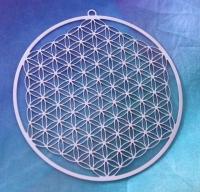 Blume des Lebens Anhänger- 7,5cm Edelstahl - vollendet für die 5.Dimension