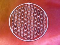 Blume des Lebens Wandschmuck - 57cm Edelstahl - vollendet für die 5.Dimension