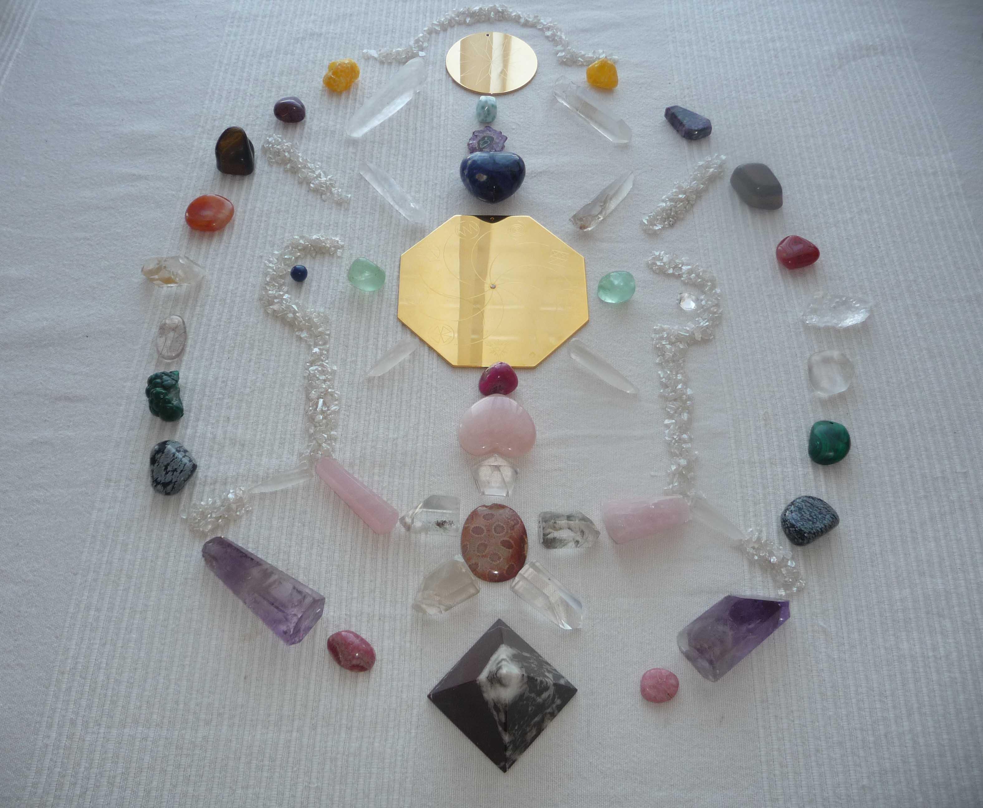 Pyramidenrituale mit Kristallen und Heilsteinen