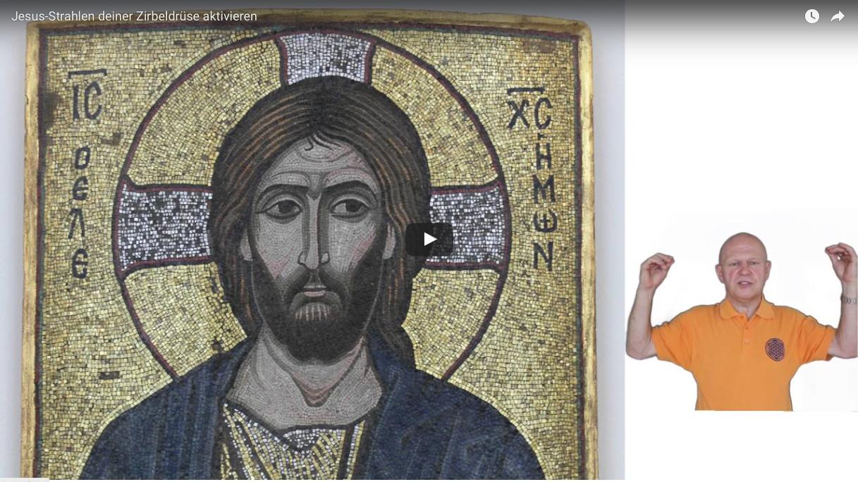 Videobild Jesus Beams Zirbeldruese aktivieren