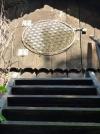 Blume des Lebens Wandschmuck- 86cm Edelstahl vergoldet - 5 dimensional